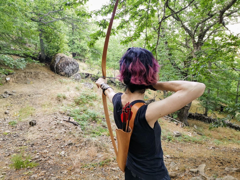 Volvimos a Sierra de San Vicente, unas flechas vespertinas en un fabuloso refugio arquero
